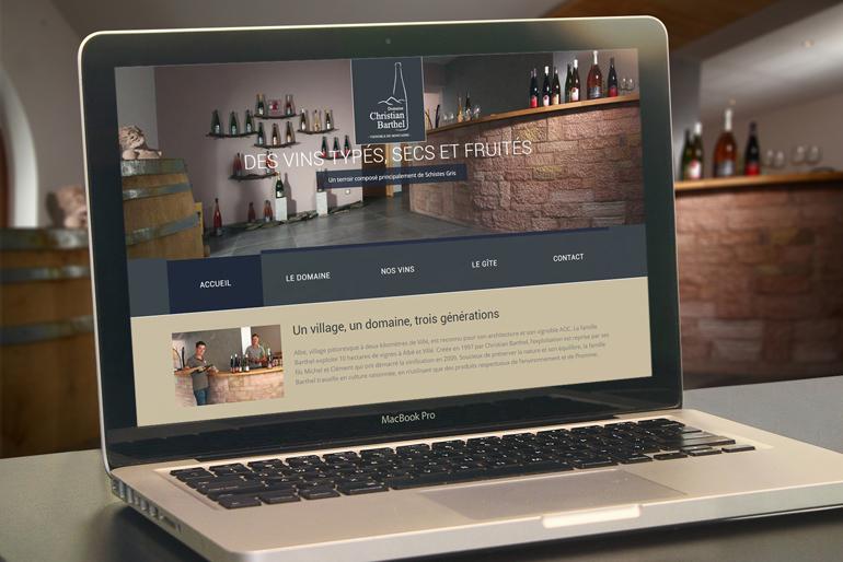 Site internet pour un domaine viticole
