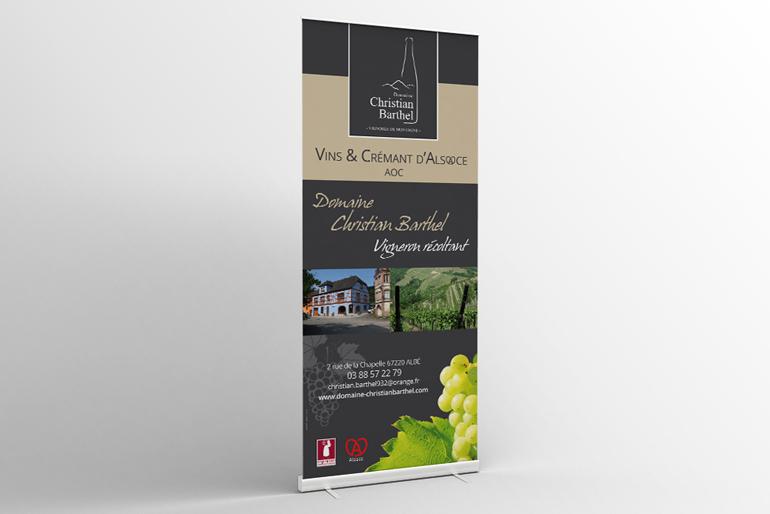 Identité visuelle, packaging et signalétique pour un domaine viticole