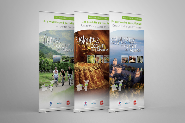 Refonte de l'identité visuelle et des supports de promotion de l'Alsace centrale