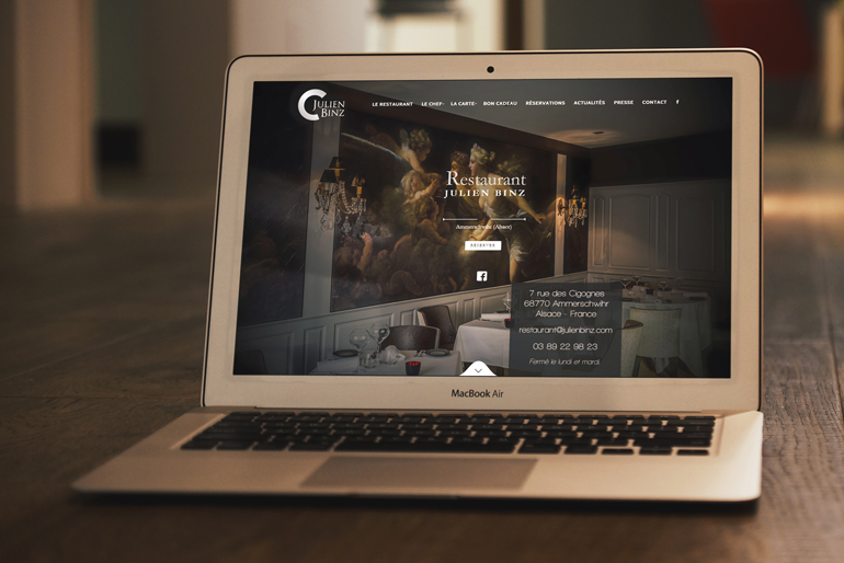 Site internet pour un restaurant gastronomique