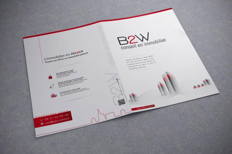 Identité visuelle et communication globale d'une agence immobilière