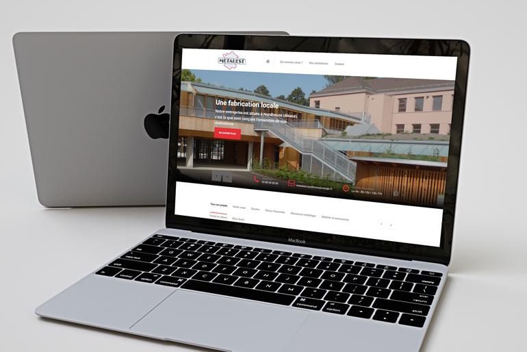 Site internet pour une métallerie en Alsace