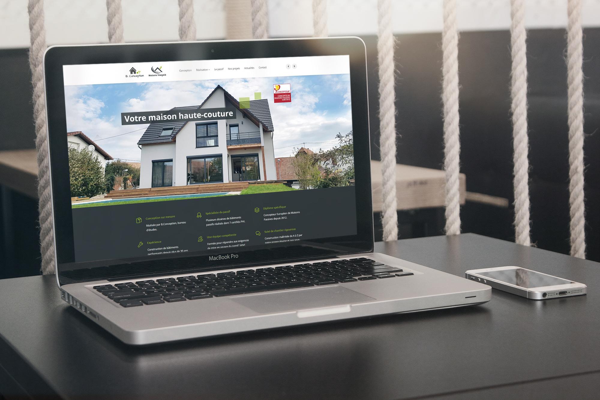 Site internet pour un constructeur de bâtiments en ossature bois