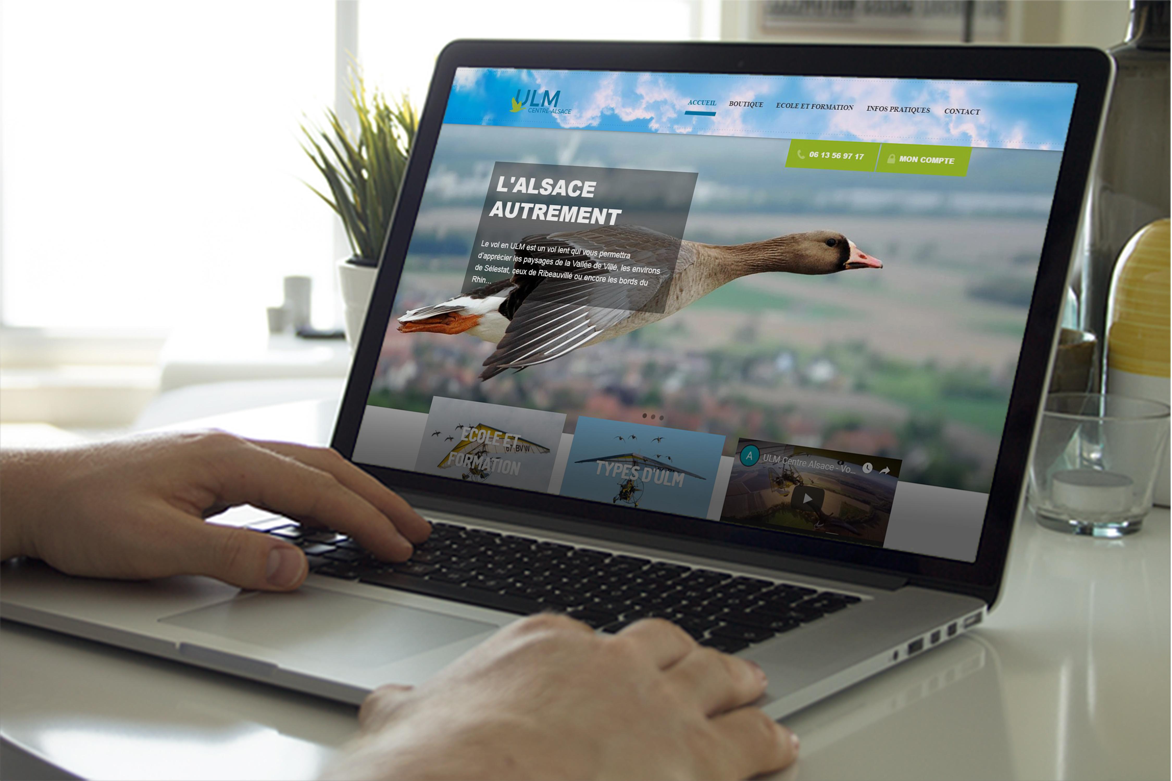 Site internet vitrine de l'entreprise et de l'école de formation