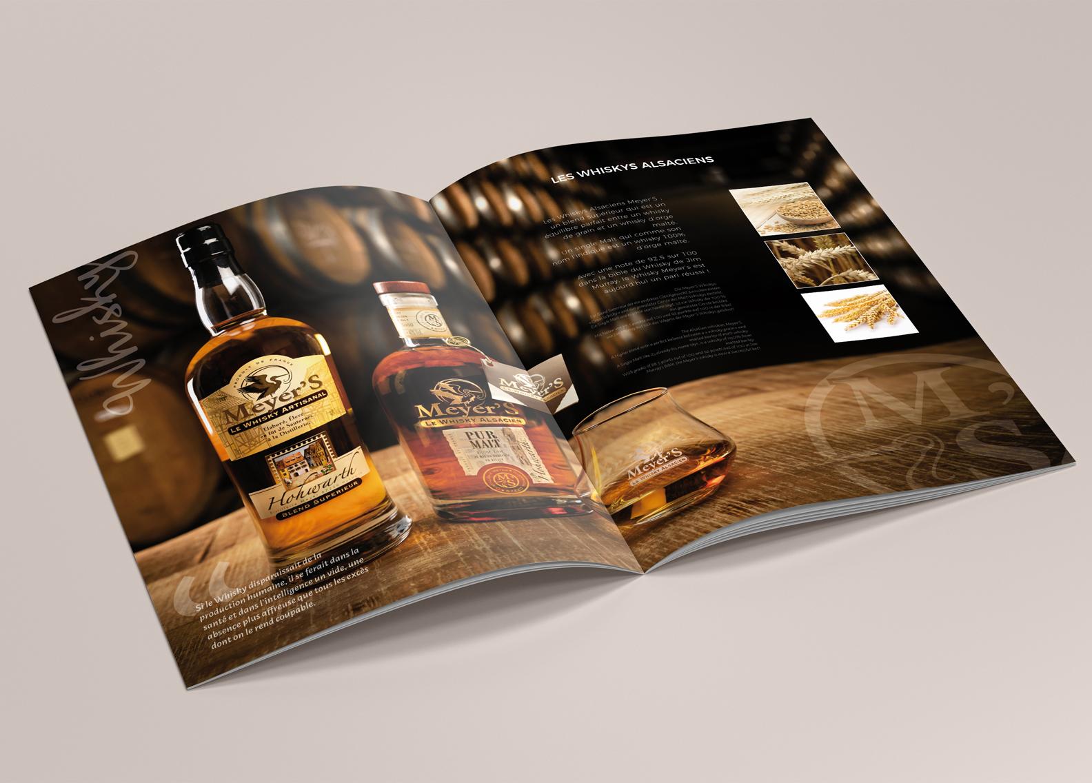 Catalogue produits pour une distillerie familiale