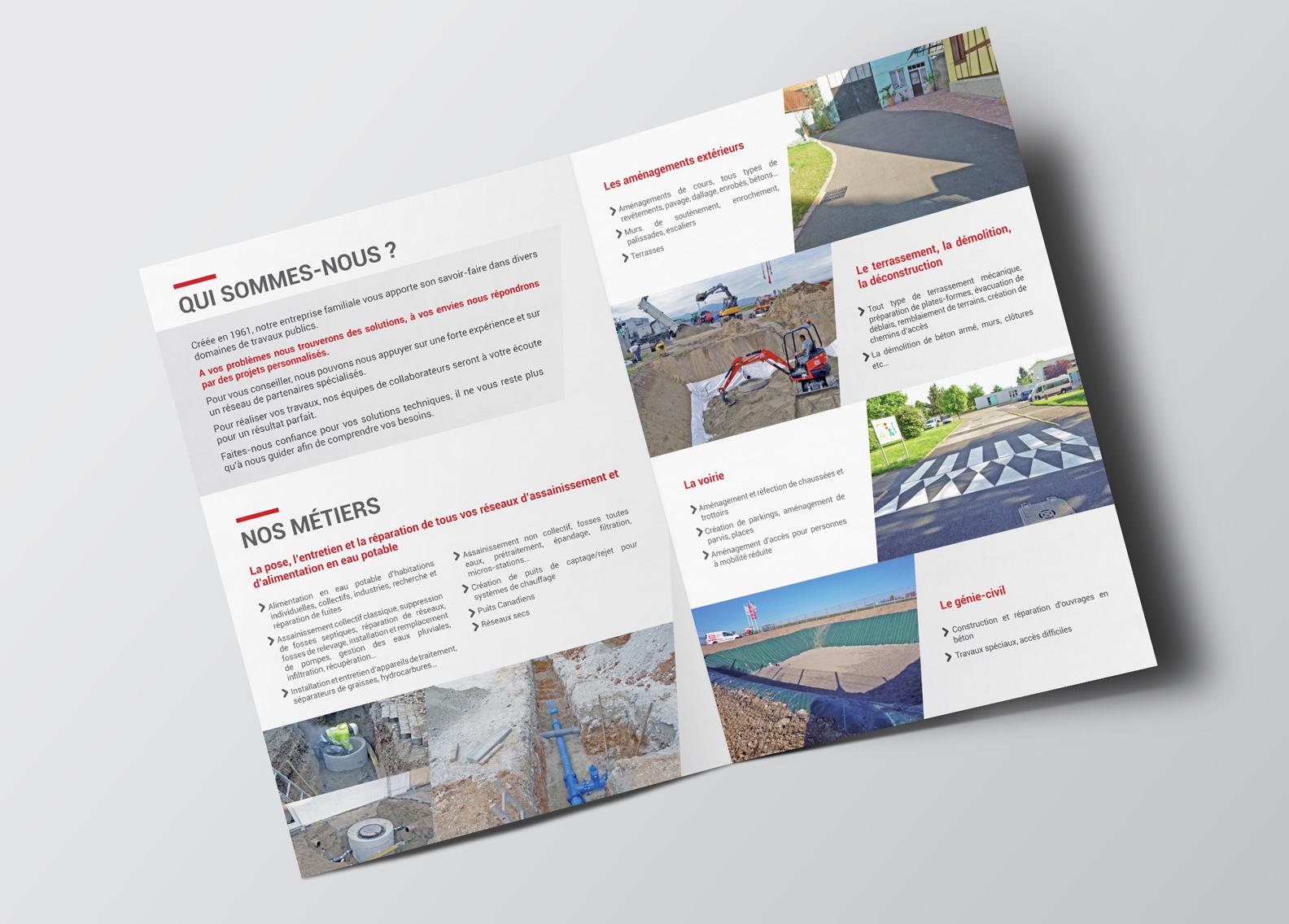 Site internet et plaquette pour une entreprise de travaux publics