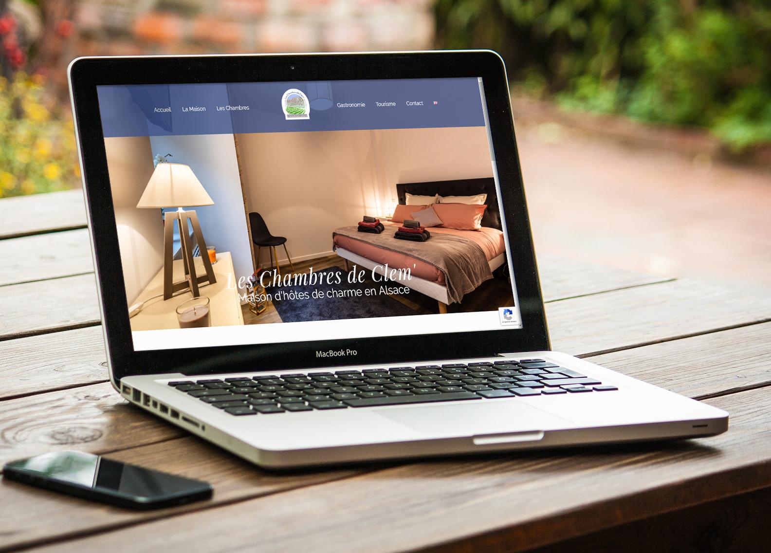 Site internet vitrine pour une chambre d'hôte