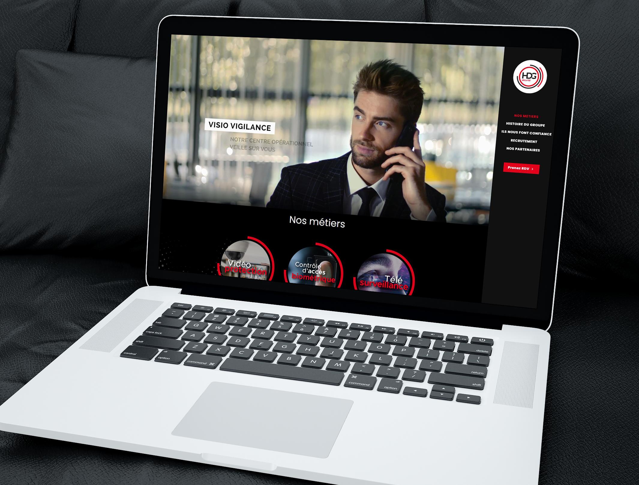 Identité visuelle, supports de communication et site internet pour une entreprise de sécurité